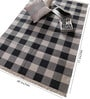 Black & Grey Cotton 71 x 49 Inch Checks Design Flatweave Area Rug by Carpet Overseas