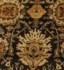 Black & Red Wool 120 x 94 Inch Persian Design Hand Knotted Area Rug by Carpet Overseas
