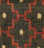 Black & Rust Jute 98 x 70 Inch Traditional Design Flatweave Area Rug by Carpet Overseas