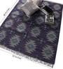 Blue Wool 68 x 52 Inch Kilim Design Flatweave Area Rug by Carpet Overseas