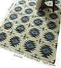Carpet Overseas Blue Wool 70 x 52 Inch Kilim Design Flatweave Area Rug