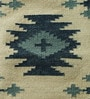 Blue Wool 70 x 52 Inch Kilim Design Flatweave Area Rug by Carpet Overseas