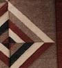 Brown & Black Silk 34 x 25 Inch Lattice Design Flatweave Area Rug by Carpet Overseas