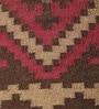 Brown & Red Jute 73 x 50 Inch Area Rug by Carpet Overseas