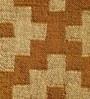Gold & Beige Jute 60 x 37 Inch Kilim Design Flatweave Area Rug by Carpet Overseas
