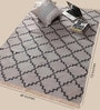 Carpet Overseas Grey Cotton 73 x 49 Inch Area Rug