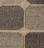 Grey Wool 60 x 36 Inch Box Design Flatweave Area Rug by Carpet Overseas