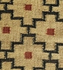 Ivory & Black Jute 73 x 50 Inch Traditional Design Flatweave Area Rug by Carpet Overseas