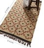 Carpet Overseas Ivory & Rust Jute 61 x 37 Inch Traditional Design Flatweave Area Rug
