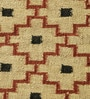 Ivory & Rust Jute 73 x 50 Inch Traditional Design Flatweave Area Rug by Carpet Overseas