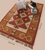 Ivory & Tobacco Jute 74 x 48 Inch Area Rug by Carpet Overseas