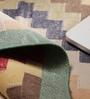 Multicolour Cotton 33 x 29 Inch Area Rug by Carpet Overseas