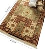 Multicolour Wool 66 x 46 Inch Panel Design Hand Knotted Area Rug by Carpet Overseas