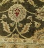 Olive Wool 96 x 60 Inch Persian Design Hand Knotted Area Rug by Carpet Overseas