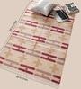 Peach & Maroon Cotton 59 x 36 Inch Area Rug by Carpet Overseas