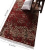 Red & Beige Wool 60 x 36 Inch Area Rug by Carpet Overseas