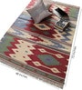 Red & Green Cotton 72 x 48 Inch Flatweave Dhurrie by Carpet Overseas
