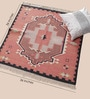 Red Cotton 36 x 36 Inch Area Rug by Carpet Overseas