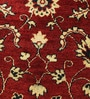 Red Wool 74 x 16 Inch Persian Design Hand Knotted Area Rug by Carpet Overseas