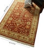 Rust & Ivory Wool 68 x 46 Inch Persian Design Hand Knotted Area Rug by Carpet Overseas