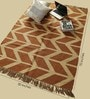 Tobacco & Camel Jute 70 x 50 Inch Area Rug by Carpet Overseas