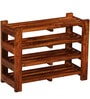 Dewey Shoe Rack in Honey Oak Finish by Woodsworth