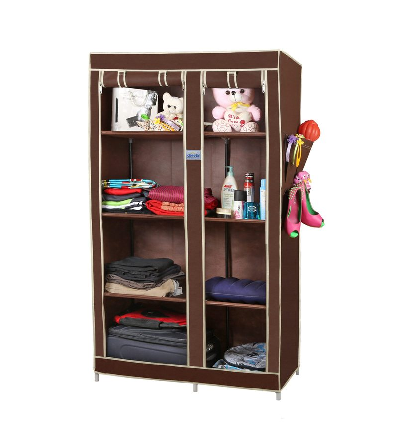 Metal & Fabric 8 Racks Collapsible Wardrobe by Cbeeso