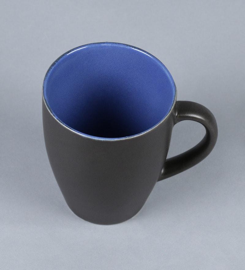 Buy Stoneware 250 Ml Mug Set Of 6 By Cdi Online Ceramic