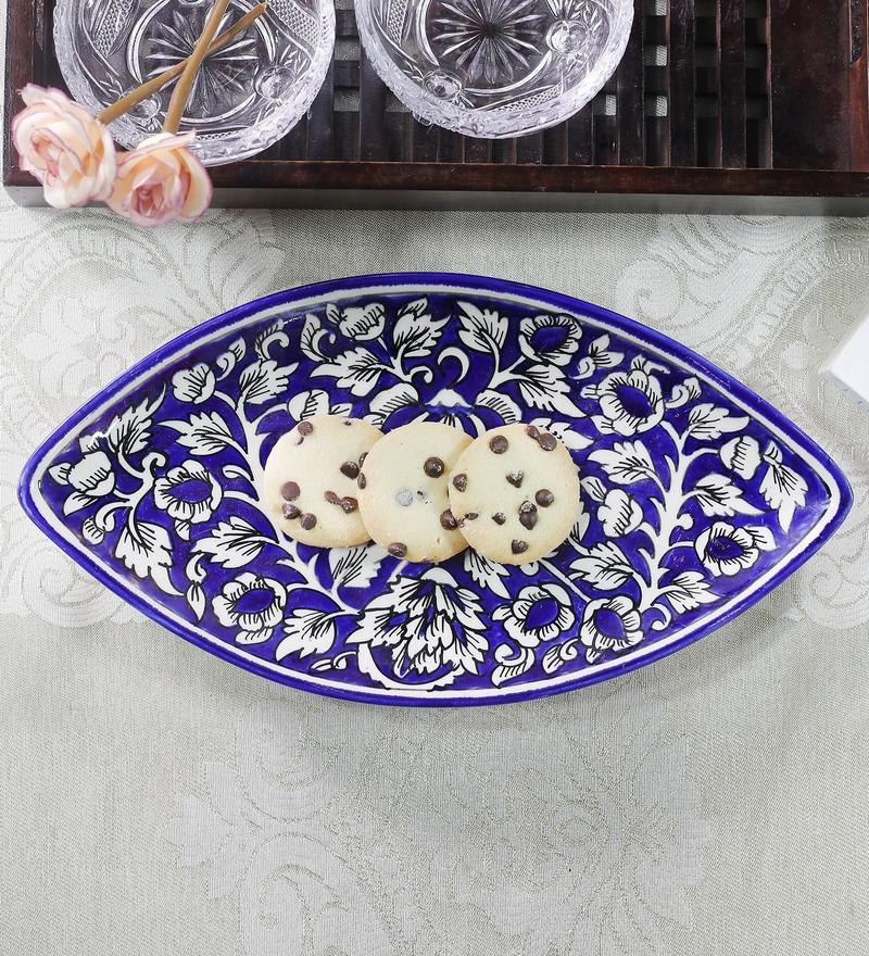Cdi Stoneware Mughal Art Eye Shaped Platter
