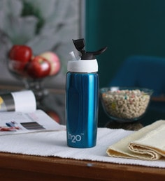 Celebration Gift H2O Blue Stainless Steel 600 ML Trendy Water Bottle