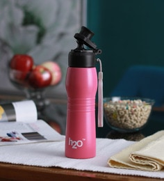 Celebration Gift H2O Pink Stainless Steel 600 ML Trendy Water Bottle