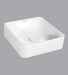 Cera Thin Rim Counter Top Mounting Wash Basin, White - 1721323