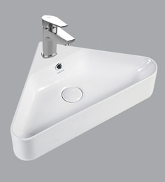 Cera Wall Mounting Wash Basin, White