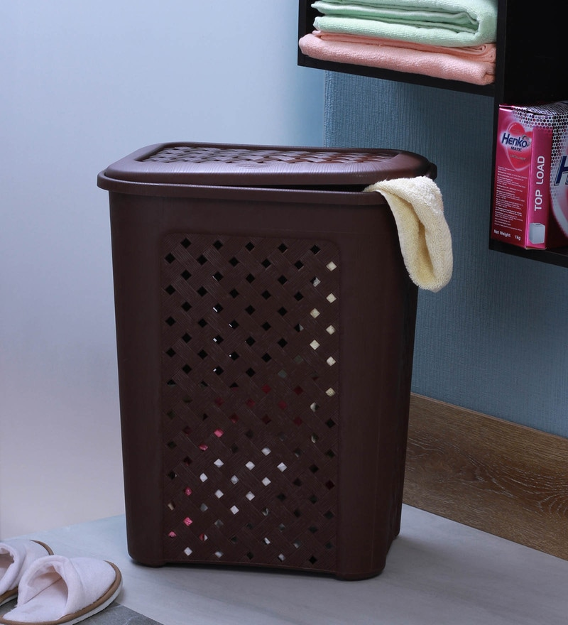 Cello Classic Plastic 50 L Brown Laundry Basket