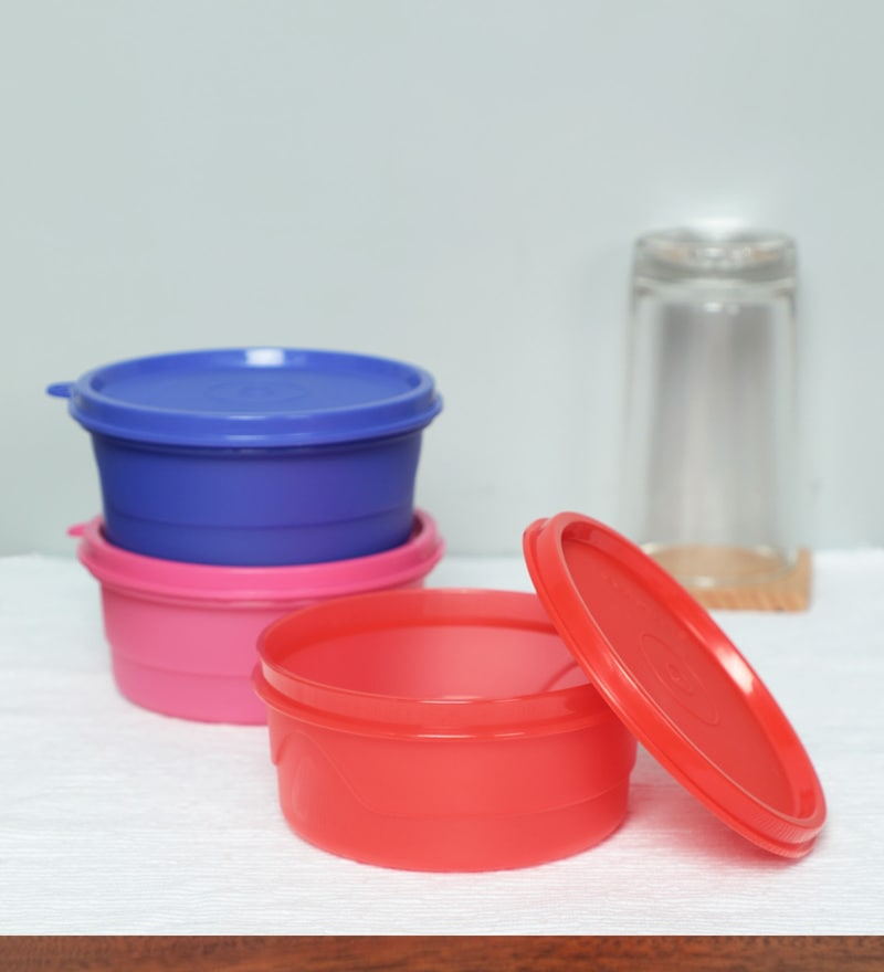 134f9b53e MasterCook Set of 4 Crystal Round Plastic Food Containers (2300 ml ...