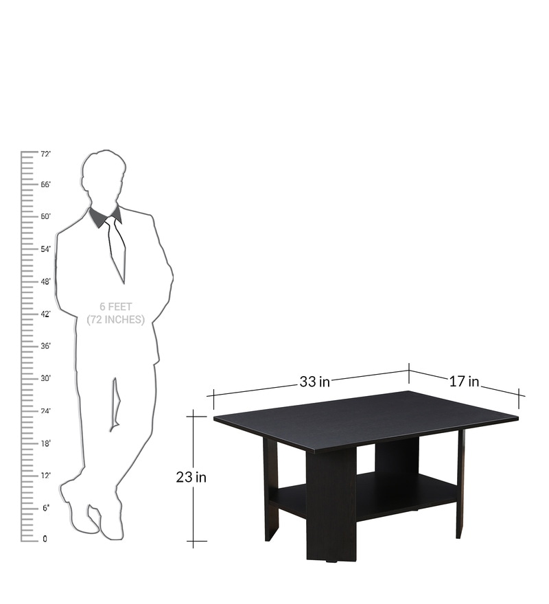 Buy Center Table In Wenge Finish By Crystal Furnitech