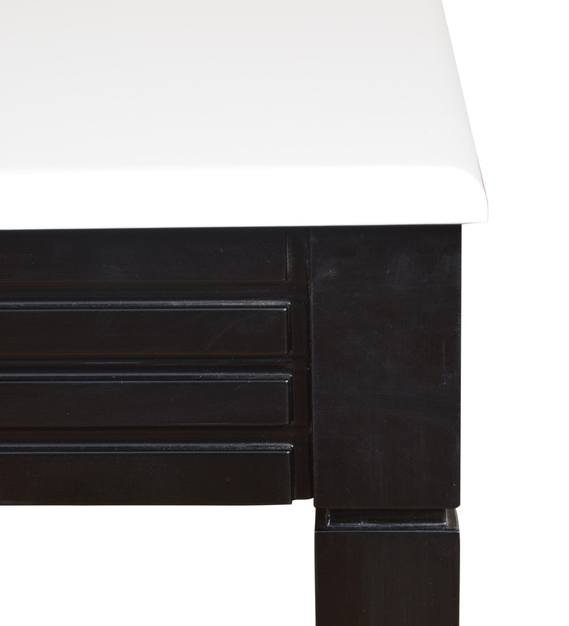 Buy Centre Table In White amp Wenge Finish By Crystal