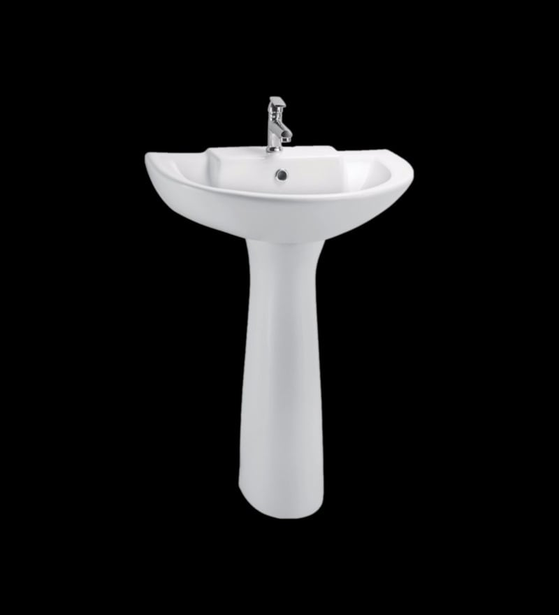 Cera Calibre White Ceramic Wash Basin Without pedastal