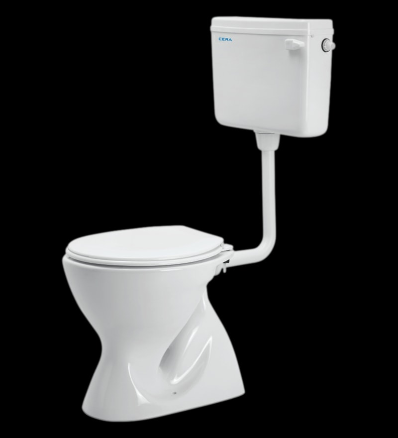 Cera Camelia Conceal White Ceramic Water Closet