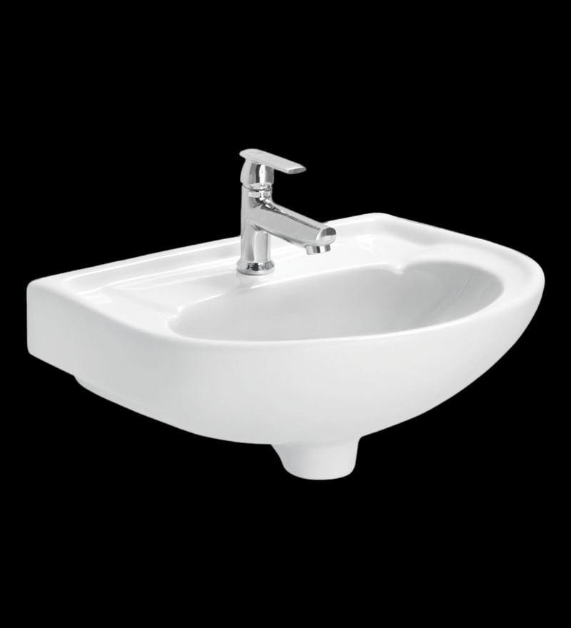 Cera Canon White Ceramic Wash Basin