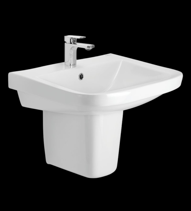 Cera Caron White Ceramic Wash Basin