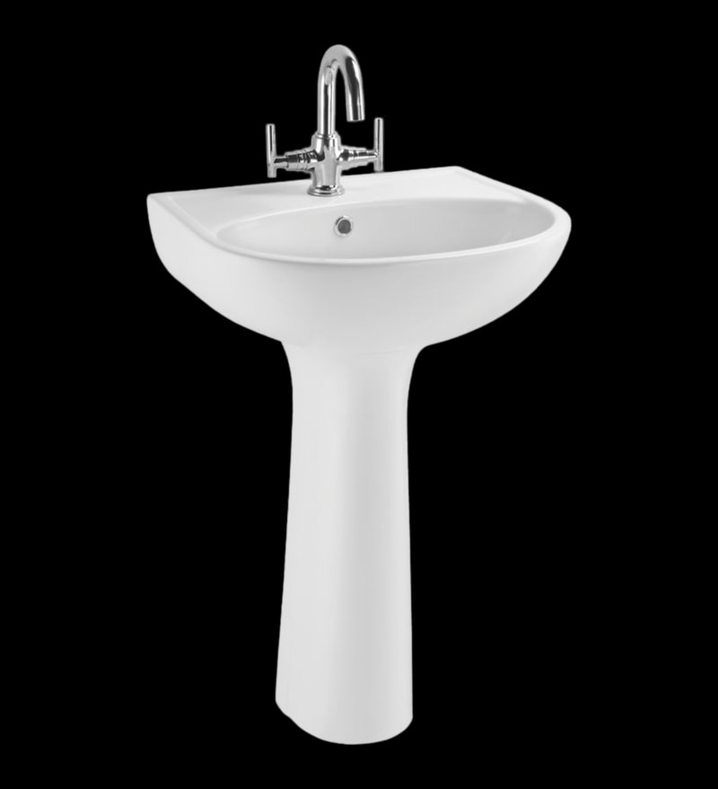 Cera Casino White Ceramic Wash Basin without pedastal