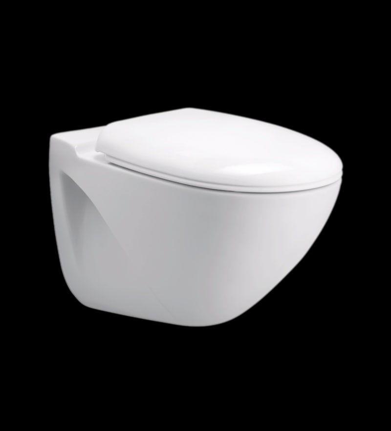 Cera County White Ceramic Water Closet with Seat Cover