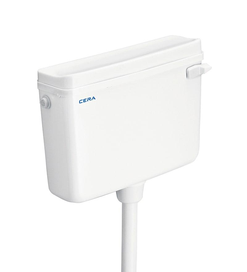 Cera Crona White Plastic Flush Tank
