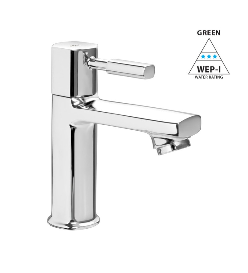 Cera Gayle Cs 1401 Chrome Plated Brass Single Lever Pillar Cock with Coin Slot Aerator