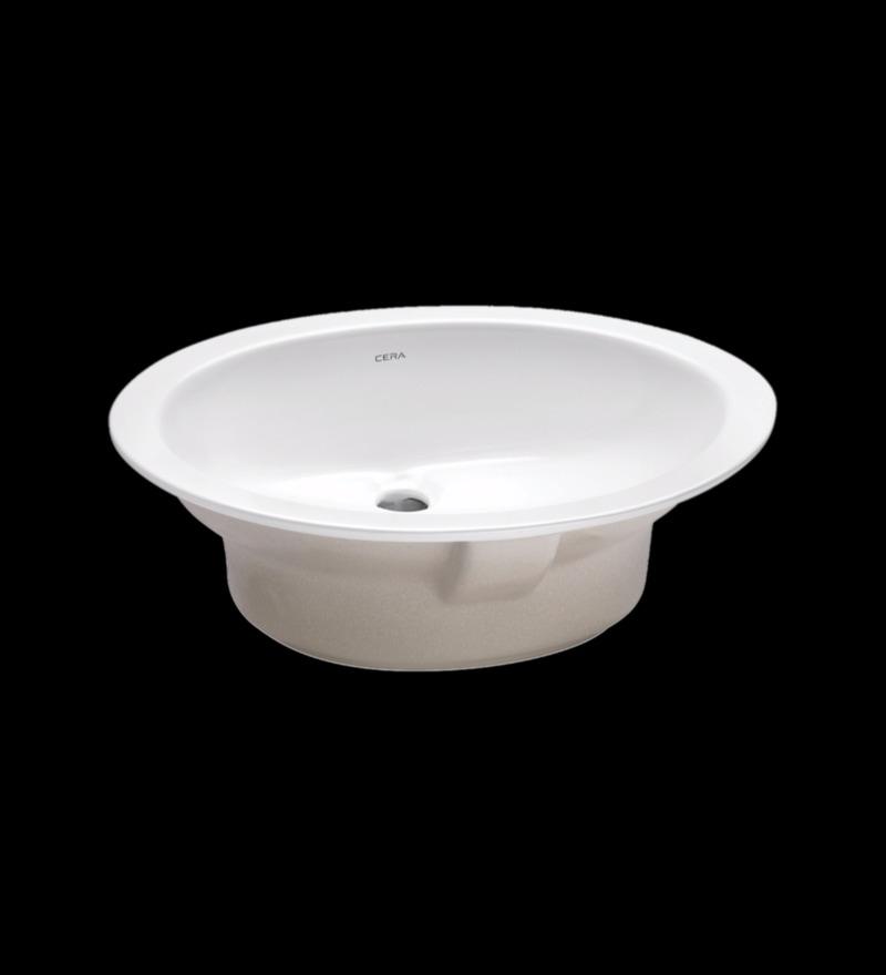 Cera Oval White Ceramic Wash Basin