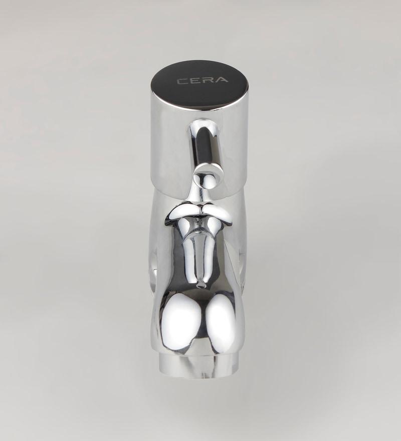 Cera Garnet Silver Brass Quarter Pillar Cock Basin Tap