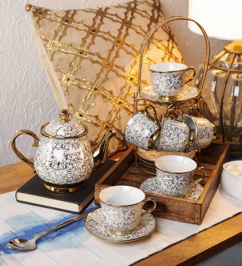 Ceradeco Porcelain Tea Set - Set of 14