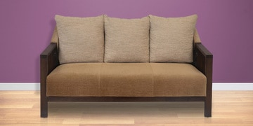 Chevy Three Seater Sofa in Brown Colour by @ Home at pepperfry