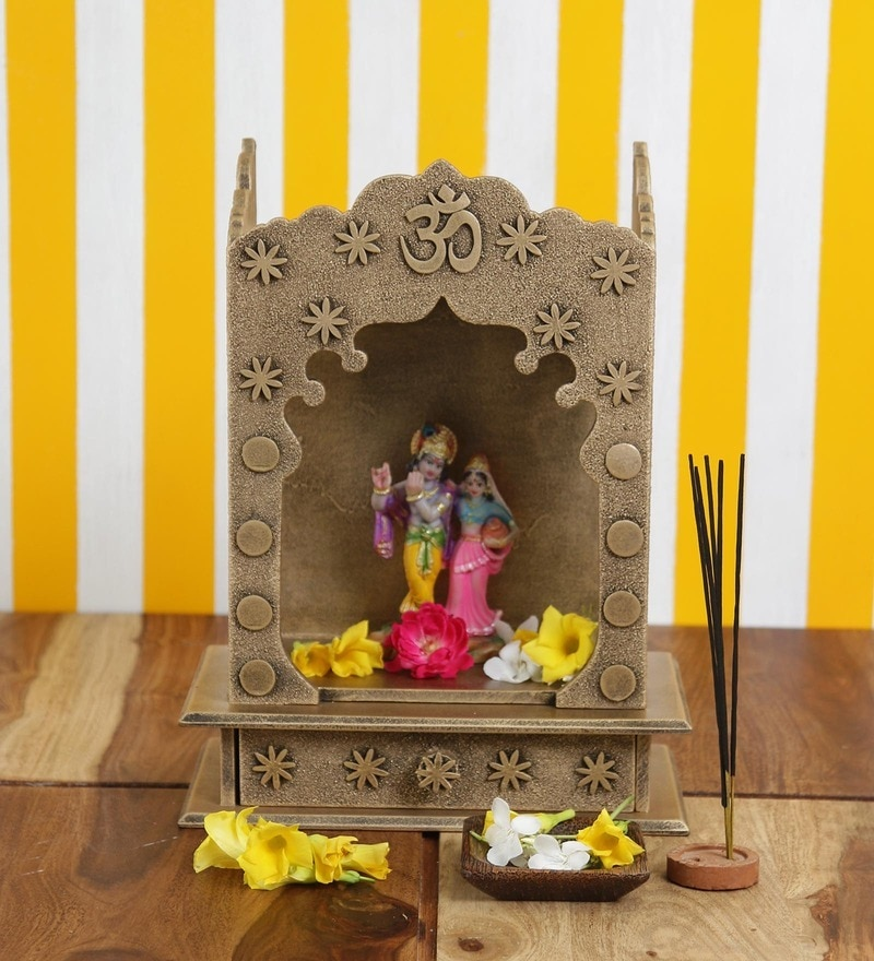 Gold MDF Home Temple by ShriNath